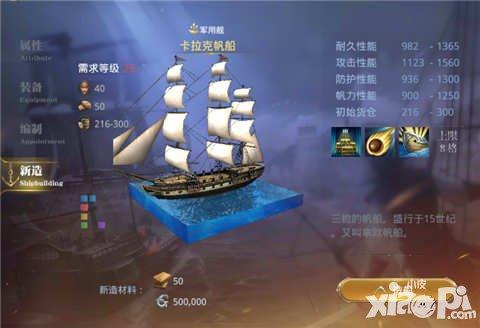 大航海之路卡拉克帆船属性图鉴