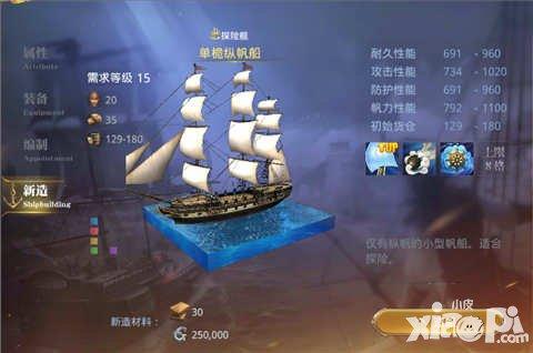 大航海之路单栀纵帆船