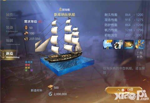 大航海之路斯库纳纵帆船