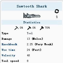 泰拉瑞亚锯齿鲨属性介绍 锯齿鲨如何获得
