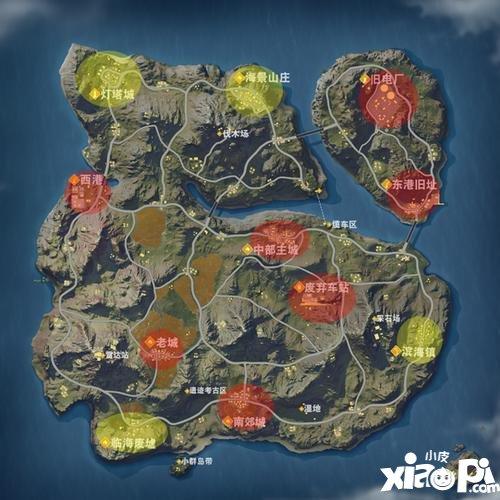 荒野行动滨海镇地图区域解析 滨海镇玩法技巧
