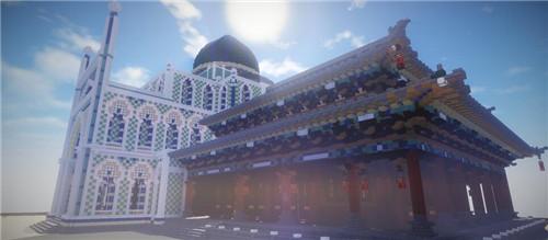 我的世界大神作品欣赏 拼贴古建筑