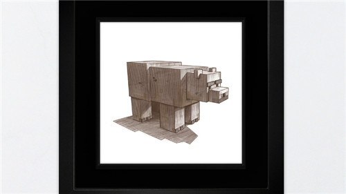 我的世界艺术作品欣赏 用MINECRAFT艺术支持慈善