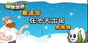 植物大战僵尸2最适合在冬天出现的植物 呆萌的棉小雪