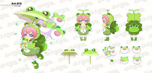非人学园雨师儿童节时装上线 雨师化身小青蛙