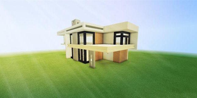 我的世界白水泥别墅教程 白水泥别墅怎么做