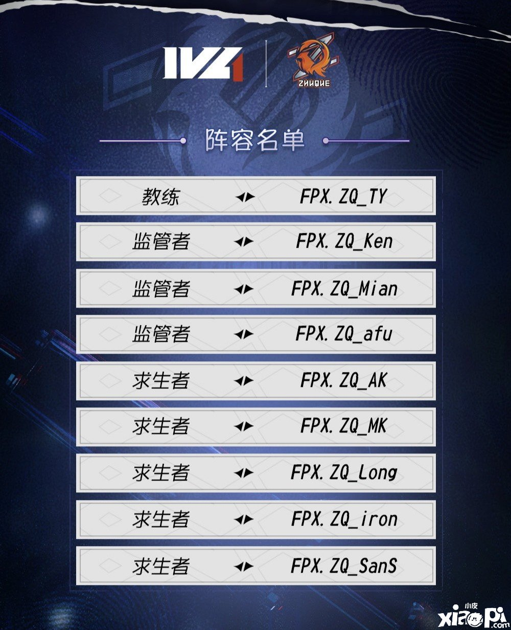 第五人格:IVL夏季赛大名单公布,哪支队伍将成为最大黑马?