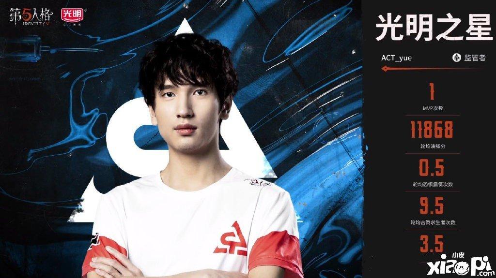《第五人格》IVL选手故事:ACT_yue——心如止水,稳中求胜