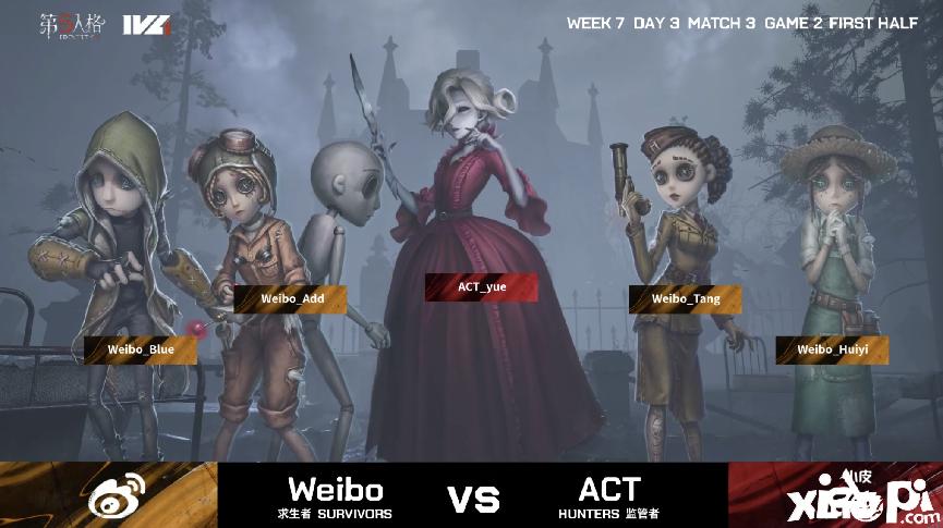 第五人格2021IVL夏季赛常规赛 ACT vs Weibo 第二局